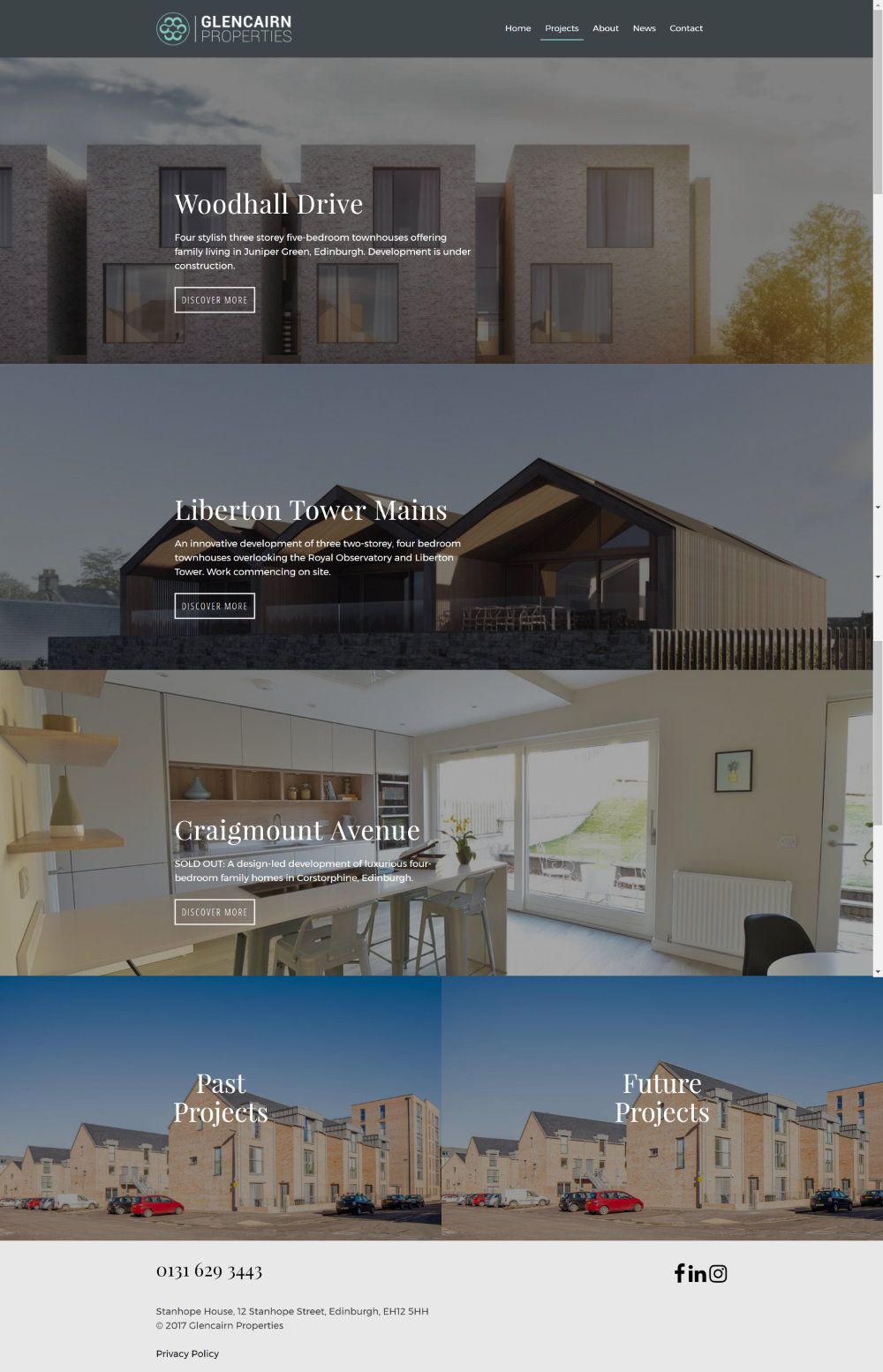 Property developers website - Glencairn Properties